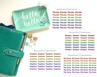 Playdate, Nursery, Preschool, Play Group Planner, Penpal and Journalling Stickers