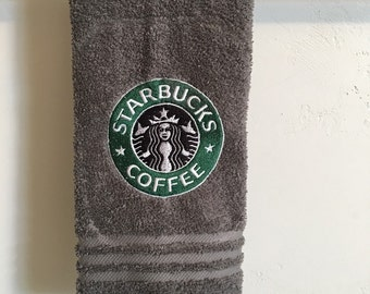 Embroidered ~STARBUCKS INSPIRED~ Kitchen Hand Towel