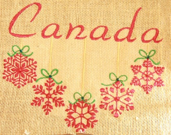 Personalized Burlap Christmas Tree Skirt. with Angel and Year