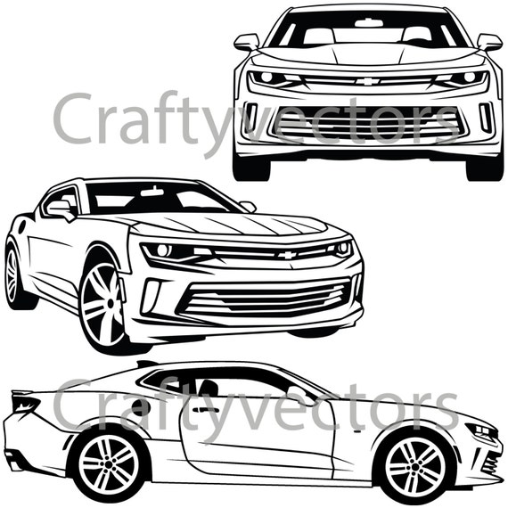 chevrolet camaro 2016 vector svg cut file