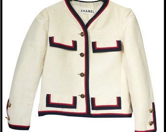CHANEL couture - raw silk - vintage 60s/70s short jacket - size 34/36 GB