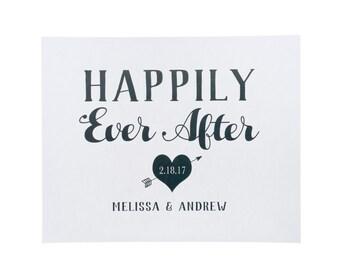 DIGITAL FILE ~Happily Ever After Art Print ~ Wedding Art Print ~ Wedding Sign
