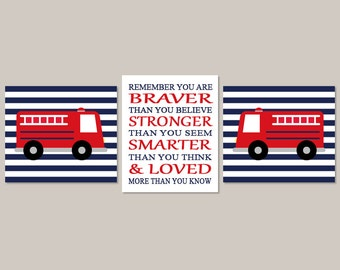 Fire Truck Wall Art, Fire Truck Decor, Prints Or Canvas, Firefighter Baby,