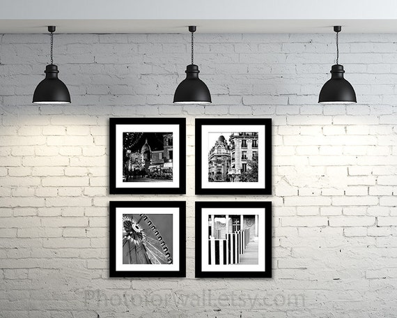 Paris photography black and white photography large wall
