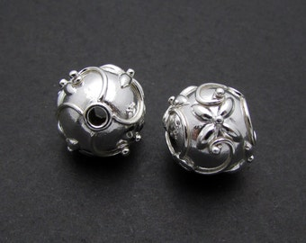 1 Pc, 11mm, Sterling Silver Bead
