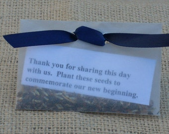Ecofriendly Wildflower Wedding Favors
