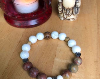 Jasper and Howlite Stone Bracelet for Someone You Love