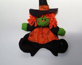 witch decor, witch doll, Halloween witch doll, Halloween decor, Halloween decoration, Halloween witch, rag witch doll, witch decoration