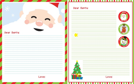 letter from santa template items similar to letter to santa printable santa letter 22858