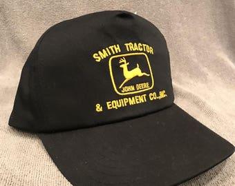 Smith Tractor John Deere Equipment Co Tractor Logo Vintage SnapBack Cap 1847