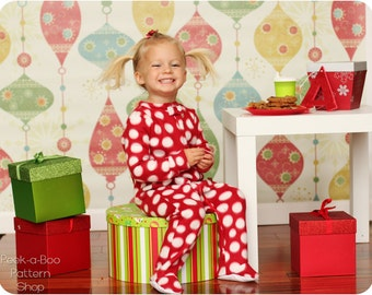 Classic Footed Pajamas: Blanket Sleeper Pattern, Footed Pajamas Pattern, Christmas Pajamas, Footie Pajamas Pattern