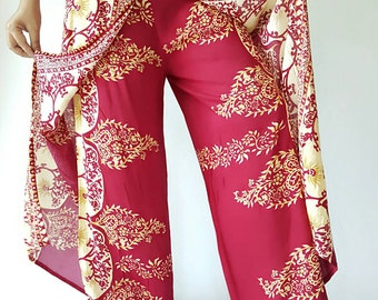 PK0008 Boho Women's Open Leg Pants, amazing comfortable Open Leg Pants are made from lightweight cotton fabric