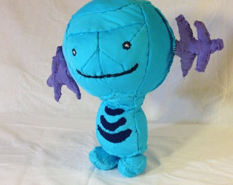 Wooper – 10 inches – Made from recycled clothing.