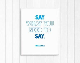 """John Mayer """"Say"""" lyrics — John Mayer music lyrics"""