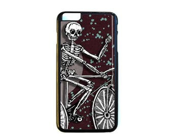 iPhone Case Choose Your Case Size Skeleton on Bike