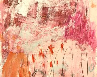 Original Abstract Art on Paper, home decor, intuitive art