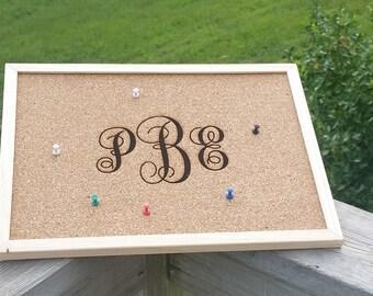 Custom Engraved Cork Board, Message Board, Cork Bulletin Board, Business Logo, Greeting Board