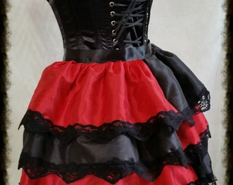 Harley Quinn taffeta Tie on  Bustle Cosplay Batman