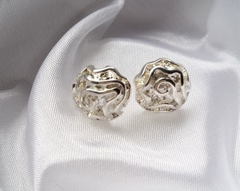 Absolutely gorgeous roses Studs, silver 925