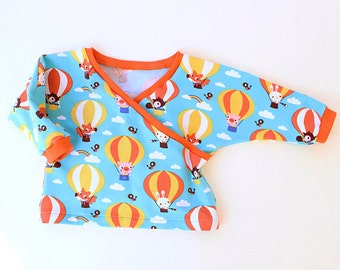 AIR BALLOON Top Shirt Baby Children sewing pattern Pdf, Knit Jersey, Toddler newborn 3 6-9 12 18m 1 2 3 4 5 6 years Instant Download