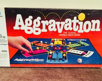 Aggravation Game from MILTON BRADLEY 1989 Complete