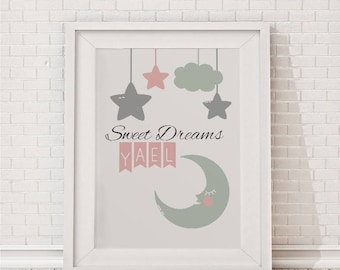 Welcome Home Baby, Sweet Dreams,  Customize Printable Sign,  Nursery Decor, Baby Shower Welcome, Personalized Gift, Dedication gift,