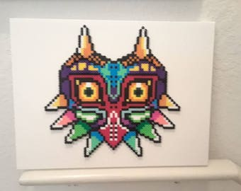 Majora's Mask from The Legend of Zelda Wall Art, Canvas Art, Perler Bead Wall Art