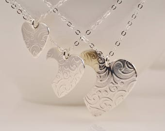 Generations necklace set, Grandmother mother daughter necklace set, Grandmother daughter granddaughter necklace set