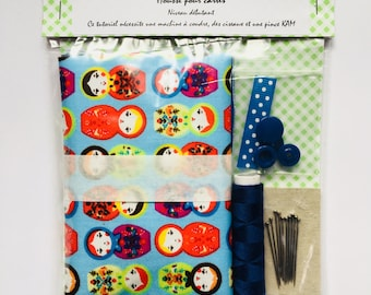 Sewing Kit for creating a pouch fabric, Russian dolls, beginner level