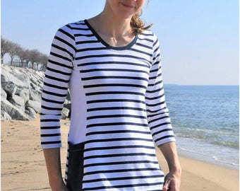 Vienna Top & Tunic PDF Sewing Pattern: Women's Tunic Sewing Pattern, Women's Top Sewing Pattern