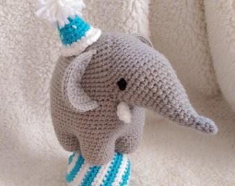 READY TO SHIP Gustav the Adorable Circus Elephant