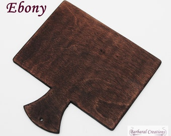 Hand made wooden hornbook in primitive style - 'Ebony'