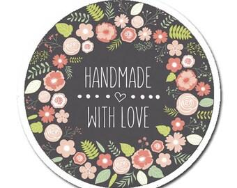 50 stickers handmade, handmade stickers