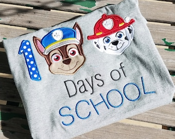Paw Patrol 100 Days of School Disney Shirt