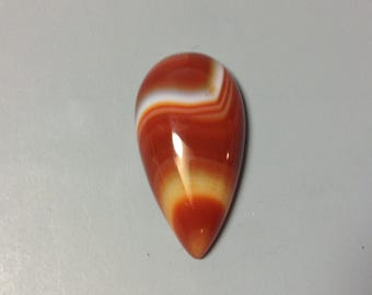 Red Agate with line cabochon 18x28mm