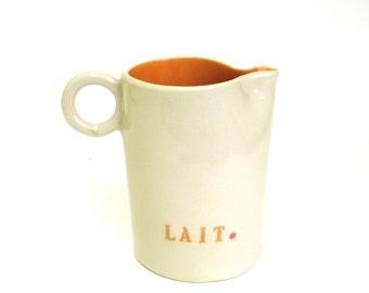 lait  ...   hand built porcelain creamer   ...   jug