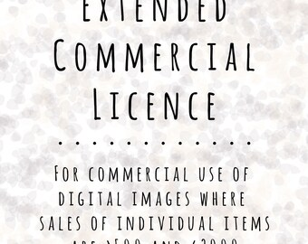 Extended Commercial Licence for Digital Clipart Files