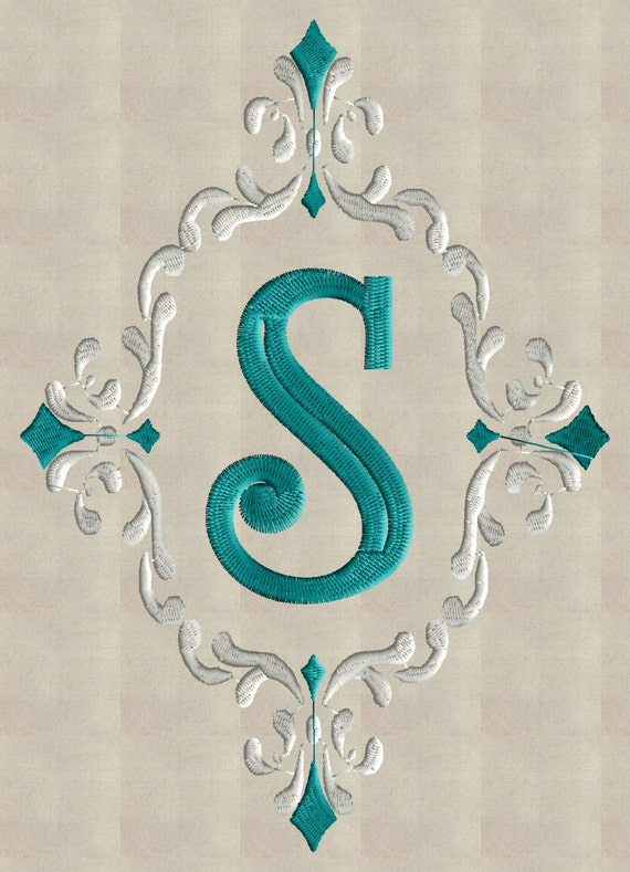font frame monogram embroidery design font not included