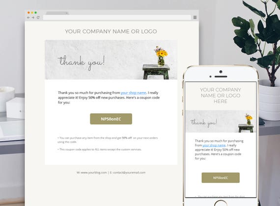 Thank you Email Template Email Newsletter Template