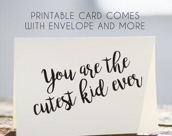 printable birthday card kids, kids happy birthday card, instant download kids card, childrens birthday card, digital kids card