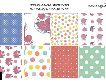 ECV-0149-A Stickers - Dots & Asters! Boho/Shabby Chic Full Boxes - Erin Condren, Plum Planner, Filofax, Happy Planner, Carpe Diem