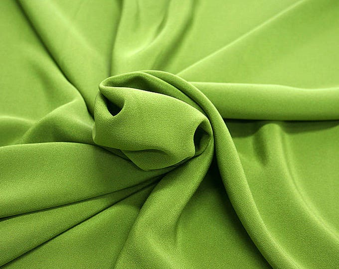 305088-Crepe marocaine Natural Silk 100%, width 130/140 cm, made in Italy, dry cleaning, weight 215 gr