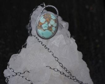 TURQUOISE MOUNTAIN PENDANT - Turquoise Pendant - Handmade Pendant - Silver Pendant - Sterling Silver - Here & Now - Anxiety - Depression