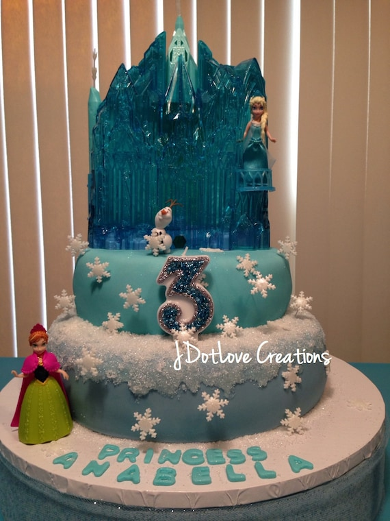 Frozen and Cinderella Inspired Birthday Candle 3 Inch You
