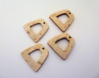 Set of 4 clips in Coconut cream - ref 8I Stirrups