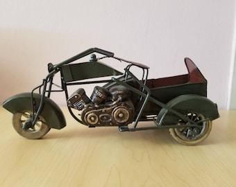 Vintage Metal Tin Bar Decor  Motorcycle Model Toy