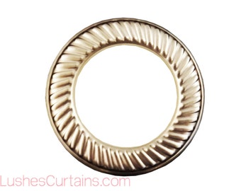 Large Nickel Quality Metal Curtain Drapery #12 Hardware 1-9/16 inch Inner Diameter Decorative Design Grommets/Rings Pack with Washer Eyelet