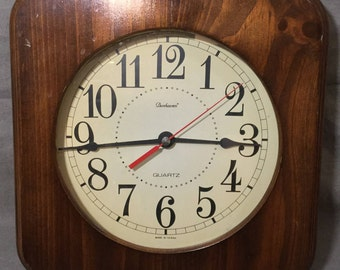 Vintage Dunhaven Square Wall Clock