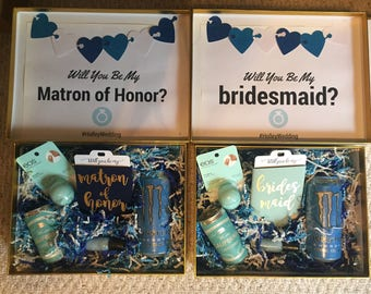 DIY Printable Bridesmaid Box Designs / Maid of Honor / Matron of Honor / Gift Boxes / Wedding Decor