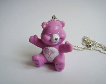 Purple bear pendant